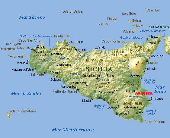 Cartina Sicilia Immagini.Cartina Sicilia