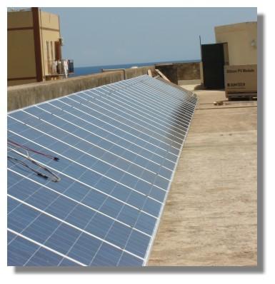 Energia alternativa: Pannelli solari sul terrazzo del Convento Cappuccini di Augusta - 2009